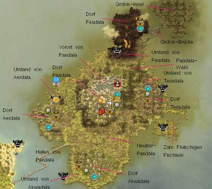 Karte Pandala