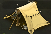 Verlassenes Zelt