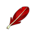 Red Piwi Feather