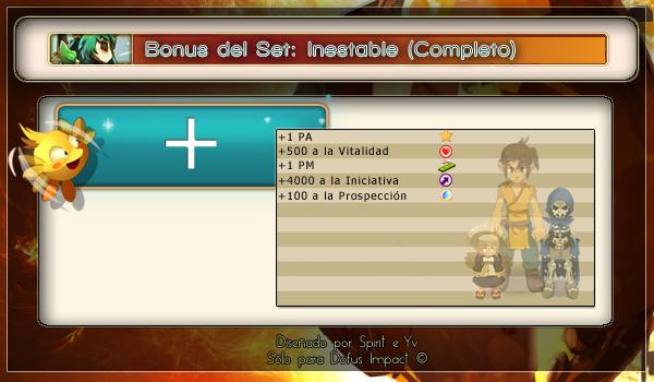 BonusSet inestable completo