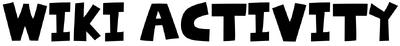 Wiki Activity