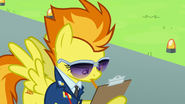Spitfire writing Vapor Trail's final evaluated score S6E24