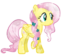 Crystal fluttershy by kibbiethegreat-d5lbvmb