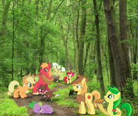 Apple family visit...scene where her der they explore crapandcrap
