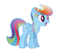 Crystal rainbow dash by pony vectors-d5pdri2