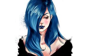 Girl-anime-music-illustration-demi-lovato-drawing-blue-hair-hd-wallpaper