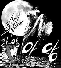 Chun-Woo as a man in the moon