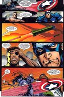 Captain America throws hsi shield