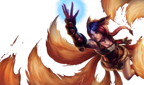 Foxfire ahri transparent background by 77silentcrow-d6uocbh