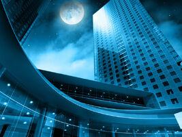 Skyscraper in the full moon by 9filip3-d4maipo