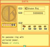 Dokapon ring stats