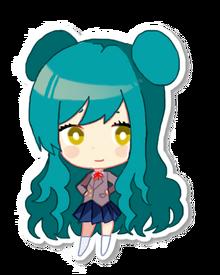 Chieko sticker with back