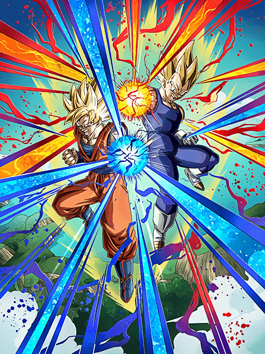 Duo en or - Son Goku Super Saiyan & Vegeta Super Saiyan
