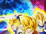 Bataille féroce ! Les trois Super Saiyans