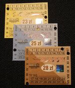 Znaczki do biletu miesięcznego