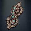 Jane Austen's Lover's Knot, turquoise colour