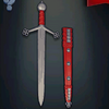 Claymore Sword, level 2 bright red