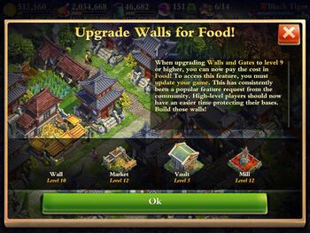 Walls for food