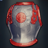 General d'Hautpoul's Cuirass - Bright Red