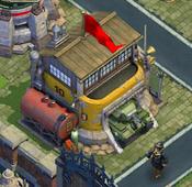 Tank depot-Atomic age