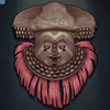 Shyaam a-Mbul a Ngoong's Mask, pink colour