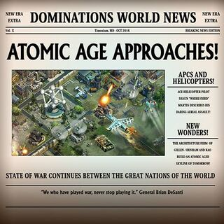 News of the upcoming Atomic Age.