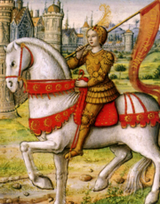 Joan of Arc on horseback