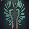 Hussar Wings - Turquoise