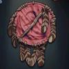 Native American's Shield, pink colour
