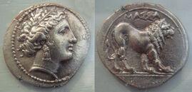 Massalia large coin 5th 1st century BCE