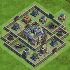 90 Walls Medieval War Base nr1