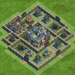 90 Walls Medieval War Base nr2 With Castle