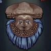 Kuba Mask, electric blue colour