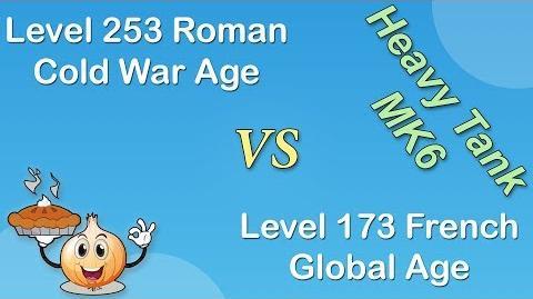 Heavy Tank MK6 Attack - Roman - L 253 Cold war VS French - L 173 Global