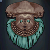 Shyaam a-Mbul a Ngoong's Mask, turquoise colour