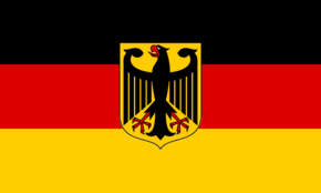 German Flag With Coat of Arms