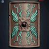 Scutum Shield, turquoise colour