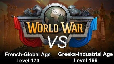 Gameplay French Global Age Lv 173 vs Greeks Industrial Age Lv 166 Alliance War Dominations Video