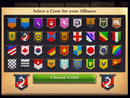 Alliance crests