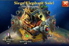 Siege Elephant Sale