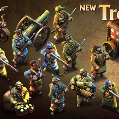 New types of units consisting of infantry, raiders, healers, wall breachers, factory units, and ranged siege units in the Industrial Age.