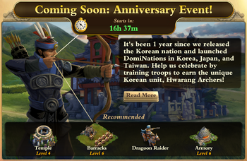 Anniversary Event Front Page