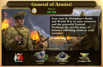 General of The Armies Event
