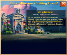 Lucky Museum Crafting Event