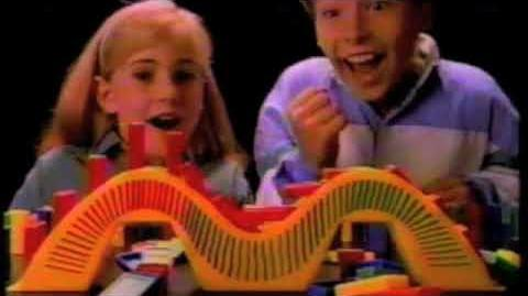 Domino Rally 1980s TV Commercial