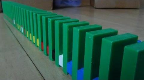 How To Put Dominoes In A Comb Template by Hevesh5