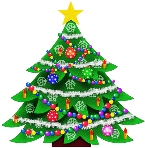 File:Transparent Christmas Tree Clipart Picture.png