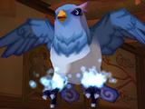 Cyan Feather Devil Bird
