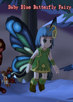 Baby Blue Butterfly Fairy