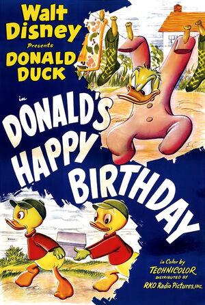 D donalds happy birthday poster